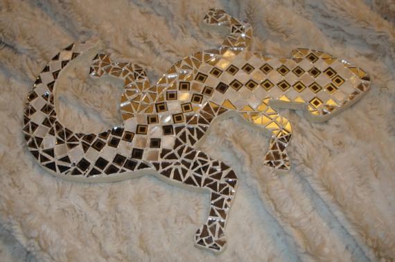 dco design lzard mosaique nacre miroir lzard en mosaque. Black Bedroom Furniture Sets. Home Design Ideas