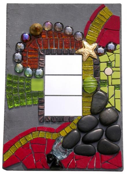 Dco design mosaique tableau ardoise miroir dans tous for Miroir mosaique design
