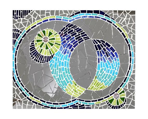 Dco design mosaique tableau plateau miroir dans tous for Miroir mosaique design