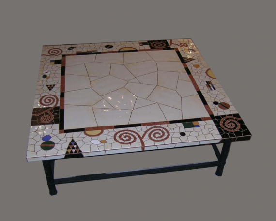 Dco Design Salon Decoration Mosaique Table Basse