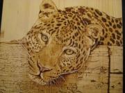 tableau animaux portrait animaux panthere pigments : Lascive