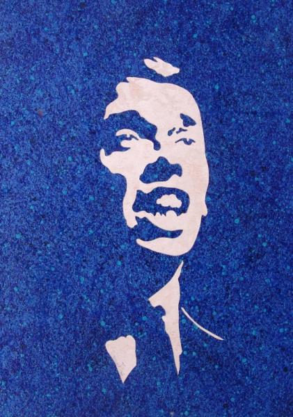 Tableau peinture jacques brel musique chanteur portrait for Tableau portrait noir et blanc