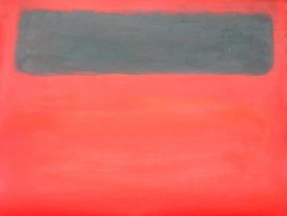 tableau peinture rouge noir rothko aplat de couleurs le