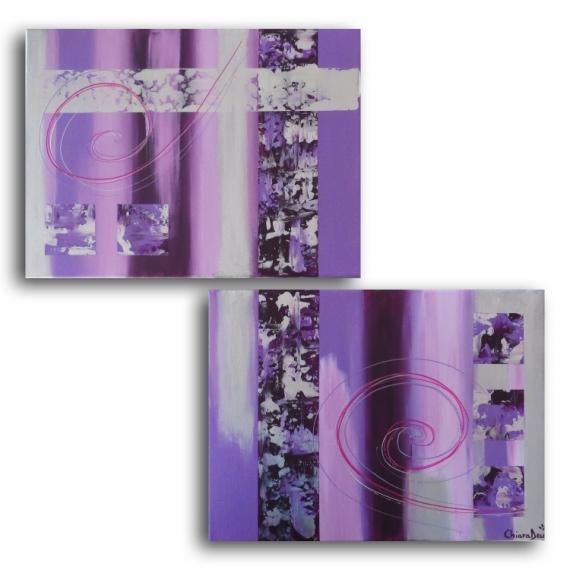 Tableau peinture toile mauve violet prune tableau toile - Violet prune couleur ...