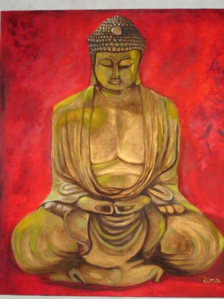 Tableau peinture zen d coration bouddha d coration d 39 in - Tableau peinture zen ...