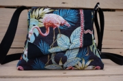 artisanat dart animaux sac flamand rose sac faitmain sac la fee kikou sac pochette : Sac évasé flamands roses