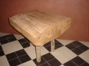 artisanat dart architecture chevet bois cerisier tabouret : table chevet