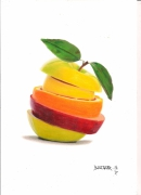 dessin fruits fruit dessin : Coupe de fruit