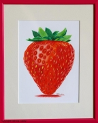 dessin fruits fruit fraise gourmand rouge : Fraise