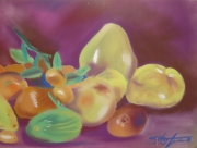 dessin fruits nature morte still life fruits : Agrumes