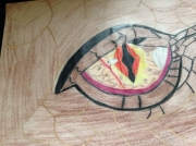 dessin personnages smaug hobbit dessin crayon : Smaug eye