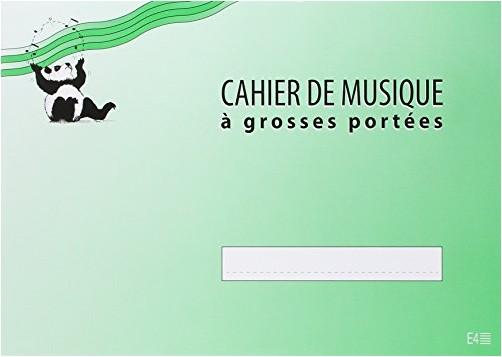 Collectif - Cahier de musique Enfant 4 portées 32 pages