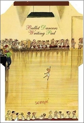 Jean-Jacques Sempe - Ballet Dancers Writing Pad