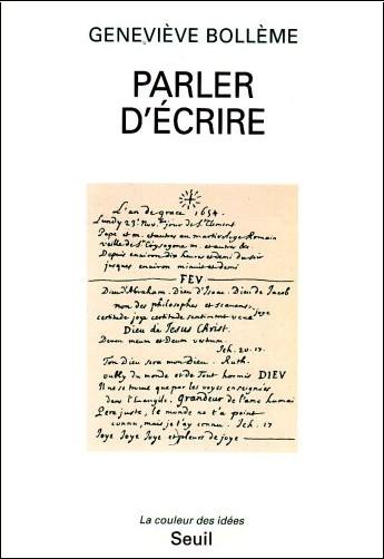 Geneviève Bollème - Parler d'écrire