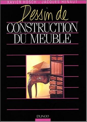 Dessin de construction du meuble hosch livres for Dessin de construction du meuble