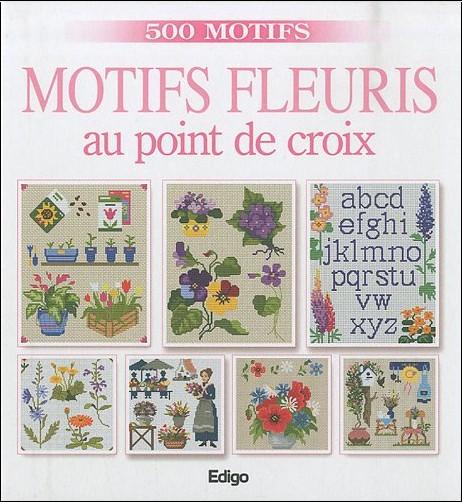 Brigitte Roquemont - Motifs fleuris au point de croix
