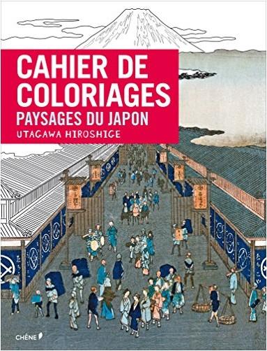 Collectif - Cahier de coloriages Paysages japonais par Hiroshige