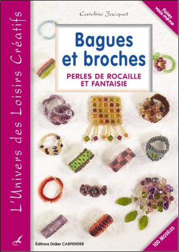 Caroline Jacquet - Bagues et broches : Perles de rocaille et fantaisie