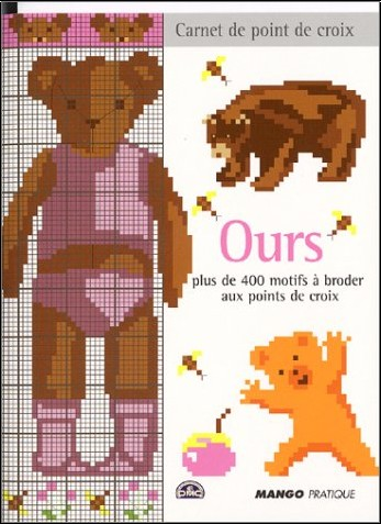Isabelle Contreau - Ours : Plus de 400 motifs à broder au point de croix