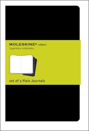 Moleskine - Cahier blanc - Très grand format - Couverture souple en carton noire - 19 x 25 cm