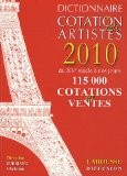 Dictionnaire Cotation des artistes 2010 - Christian Sorriano