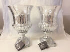 Pair Urns Vases - Glass Vintage  Silver Patina by SIA