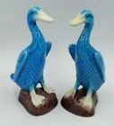 2 canards porcelaine chinoise faience antique chinese Kangxi duck turquoise bird