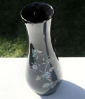 Papier Mache Mother Of Pearl Inlay Floral Flower Design Vase