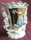 Continental Porcelain Vase; Painted Panel; UNUSUAL; 19thC;No maker marks; Kitsch