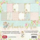 12 Papiers scrapbooking 30,48x30,48 cm Amour CPS-AM30 Craft&You