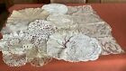 Vintage Lot De 17 Napperons Dentelle ,crochet Main