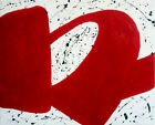 RED ni tableau expressionnisme abstrait pop art painting  french CLALY