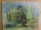 Dessin Pastel Philippe GRANAT (XX) Paysage Nature Abstraction