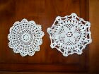 2 napperons coton ronds au crochet