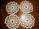 Napperons au crochet rond en coton écru pour attrapes-reves (lot de 4)
