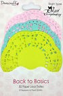 LOT 30 NAPPERON ROND MULTICOLORE PAPIER SCRAPBOOKING SCRAP EMBELLISSEMENT SHABBY