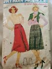 Patron Couture jupe  coupe vintage femme sewing pattern