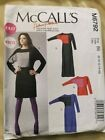 Patron Couture robe McCall's femme vintage retro coupe jersey facile
