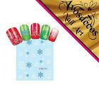 💙 sticker ongle patch water decal noel merry christmas sapin flon neige deco 💙