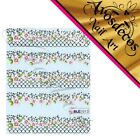 �� sticker ongle patch water decal Frise dentelle ornement manucure deco ble ��