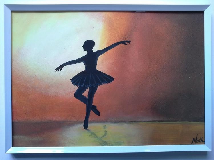 "Peinture silhouette ""Ballerine"""