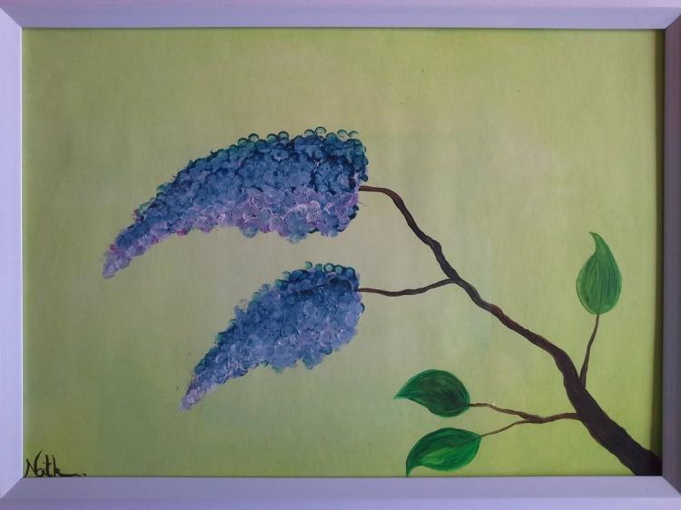 """Peinture """"Branche à fleurs"""""""