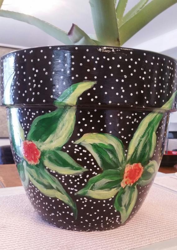 Pot en fleurs