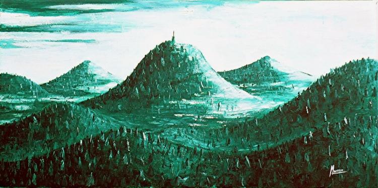 Chaîne des Puys Verte - Vue d'artiste
