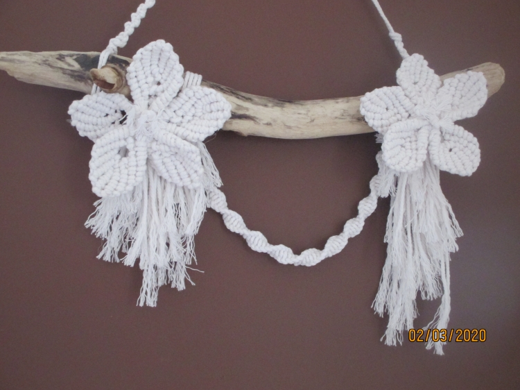 ARTISANAT D'ART fleurs mariage coton fait main - fleurs