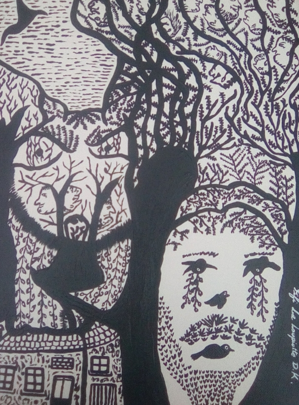 TABLEAU PEINTURE Nature Triste Arbre Illusion - NATURE TRISTE