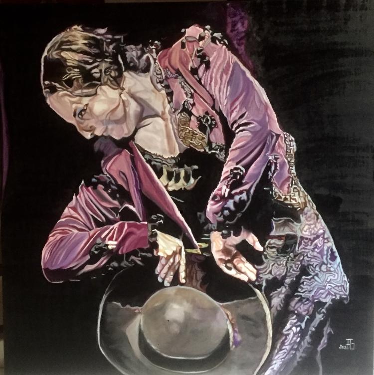 TABLEAU PEINTURE Flamenco Espagne Danseuse Madrid - La Lupi torera 2