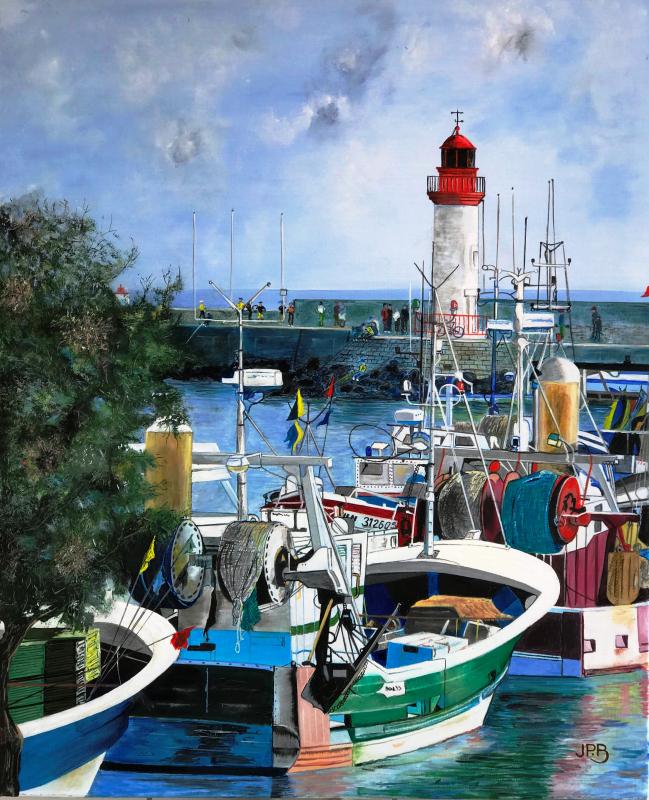 Les tamaris du port de la Cotinière