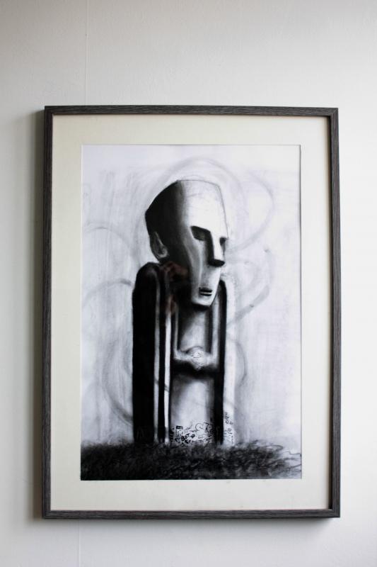 Dessin original - Statue
