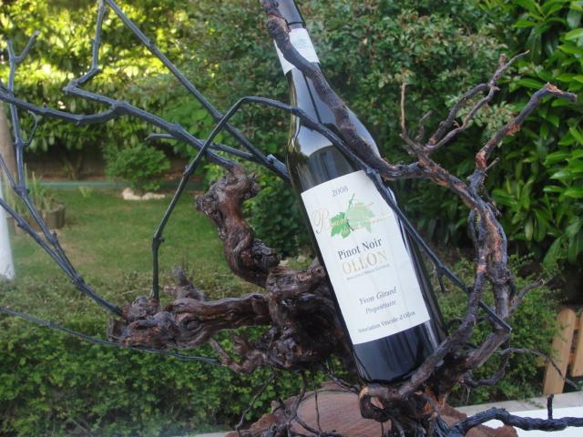 PORTE BOUTEILLE ( cep de vigne lasure)